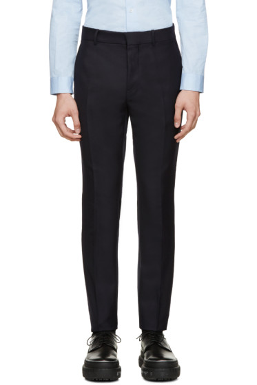 Marni - Navy Wool Twill Trousers