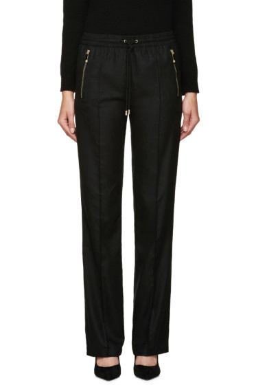 Versace - Black Silk Twill Lounge Pants