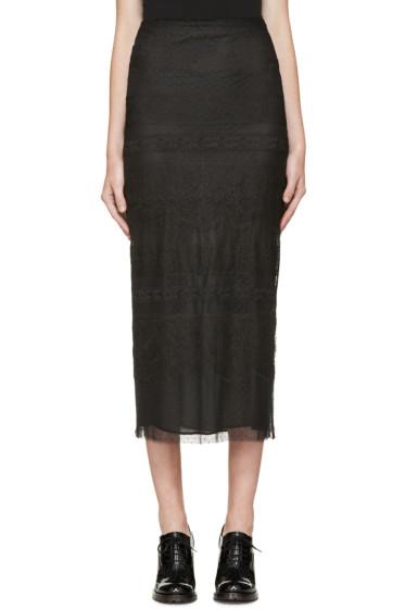 Valentino - Black Lace Pencil Skirt