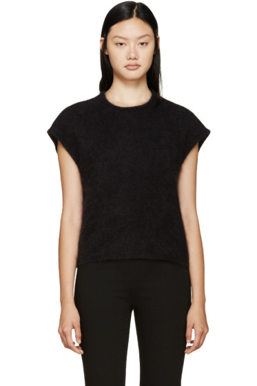 Giambattista Valli - Black Sleeveless Angora Sweater