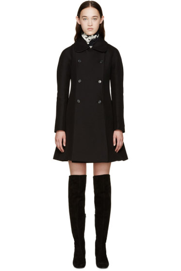 Giambattista Valli - Black A-Line Peacoat