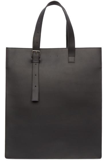 PB 0110 - Black Leather AB 25 Tote Bag