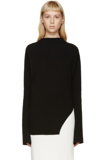 Thomas Tait - Black Rib Knit Sweater