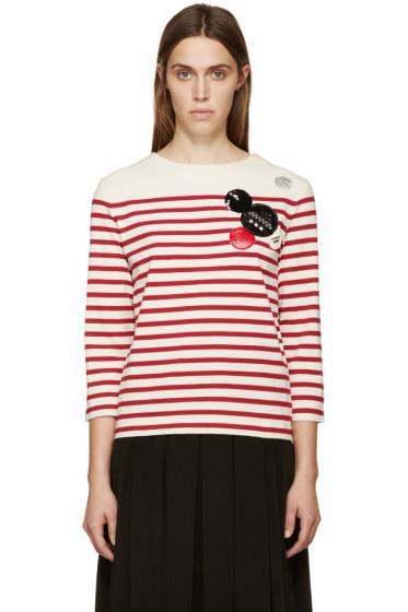 Marc by Marc Jacobs - White & Red Breton Striped Crewneck