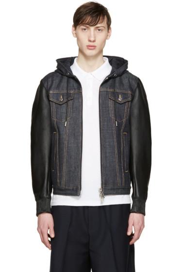 Dsquared2 - Navy Denim & Leather Jacket