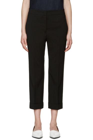 Jil Sander - Black Wool Cuffed Trousers