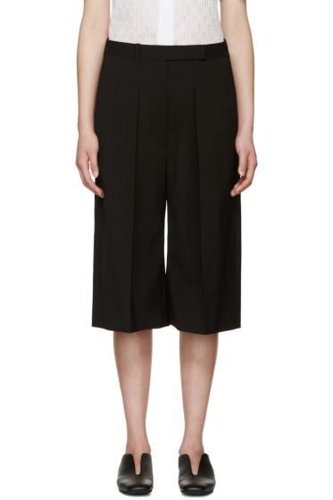 Jil Sander - Black Wool Pleated Culottes