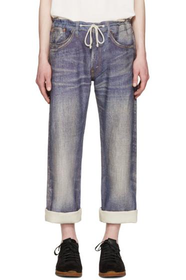 Junya Watanabe - Indigo Linen Trompe L'Oeil Levi's Edition Jeans