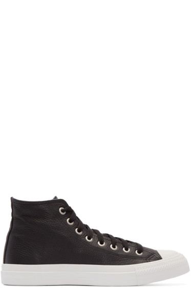 Junya Watanabe - Black Leather High-Top Sneakers