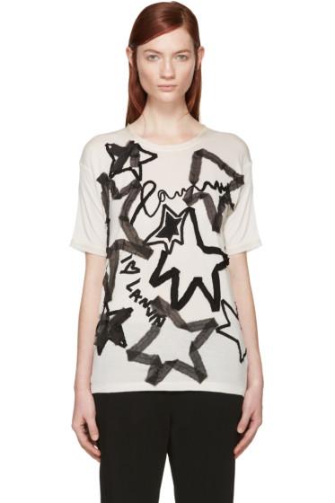 Lanvin - Beige Star Appliqué T-Shirt
