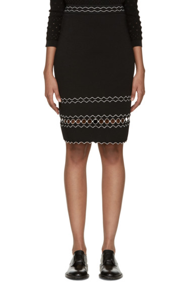Alexander McQueen - Black Scalloped Trim Skirt