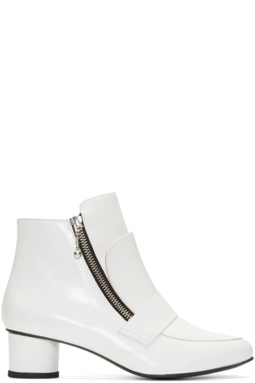 Opening Ceremony - White Zan Loafer Ankle Boots