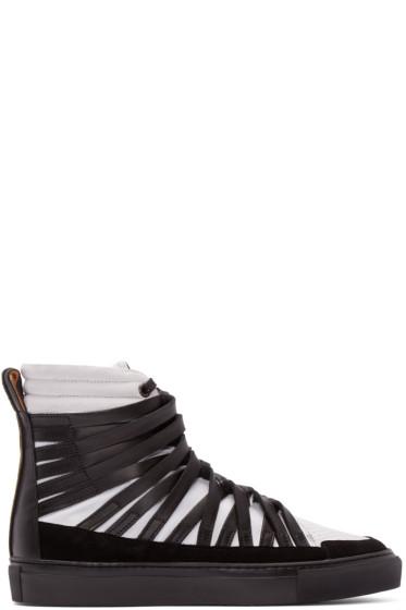 Damir Doma - Black & White Falco High-Top Sneakers