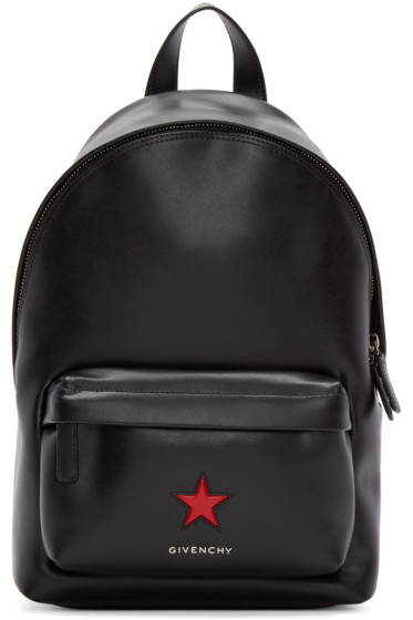 Givenchy - Black Leather Mini Star Backpack