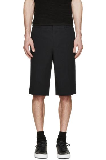 Givenchy - Black Seersucker Shorts