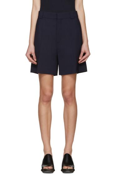 Chloé - Navy Wool Shorts