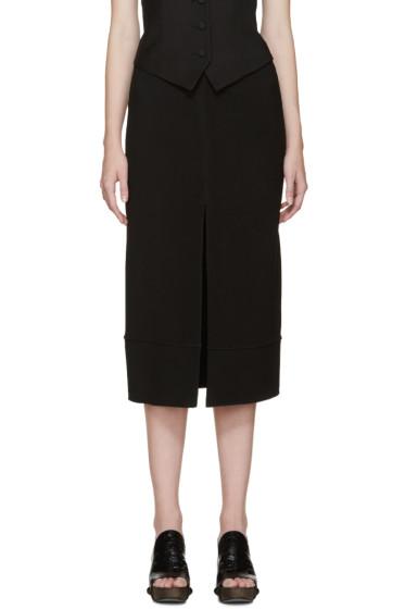 Chloé - Black Cady Slit Skirt