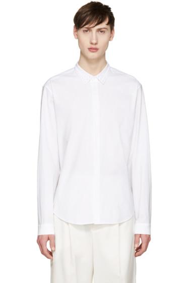 Juun.J - White Studded Collar Shirt