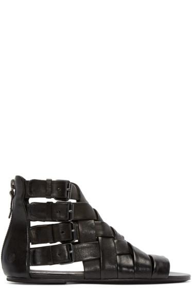 Marsèll - Black Braided Gladiator Arsella Sandals
