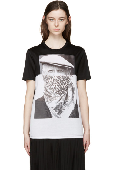 Neil Barrett - Black & White Picasso T-Shirt