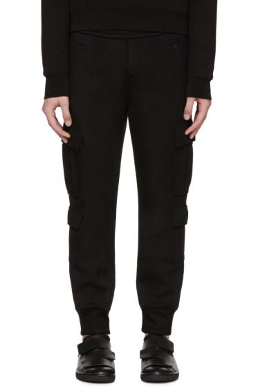 Neil Barrett - Black Neoprene Cargo Lounge Pants