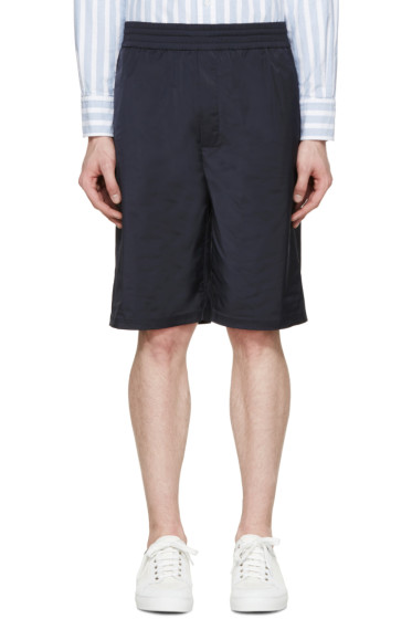 Neil Barrett - Navy Matte Shorts