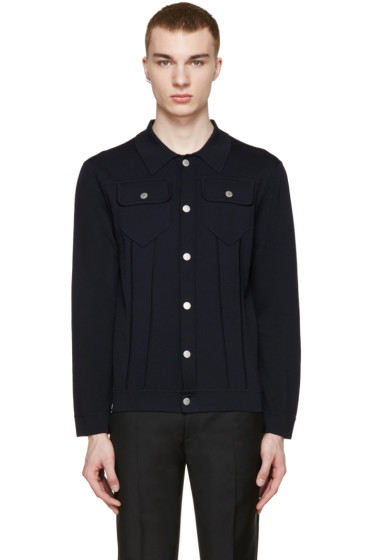 Neil Barrett - Navy Stretch-Knit Cardigan