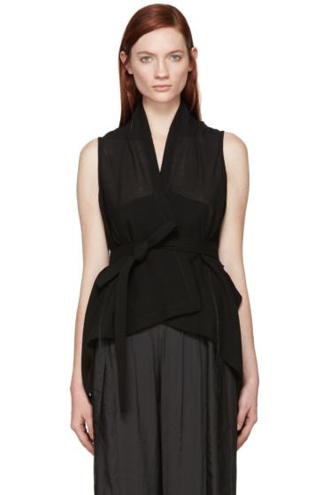 Ann Demeulemeester - Black Milana Wrap Vest