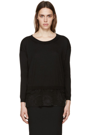 Ann Demeulemeester - Black Knit & Lace Annick Sweater