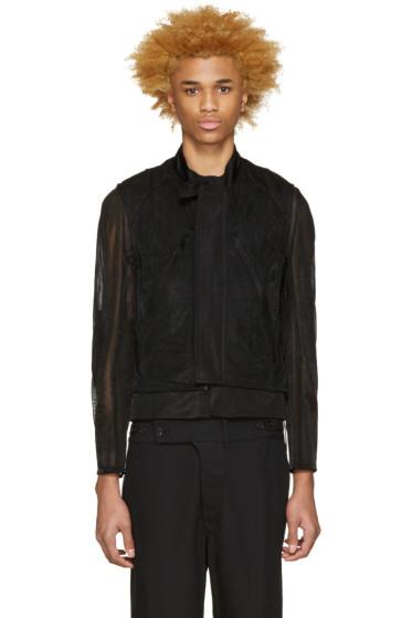 Ann Demeulemeester - Black Layered Biker Jacket