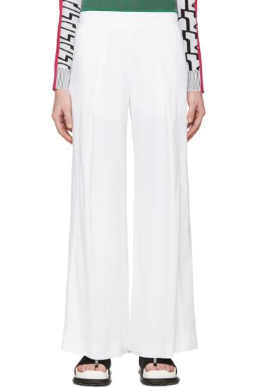 Kenzo - White Wide-leg Flowing Trousers