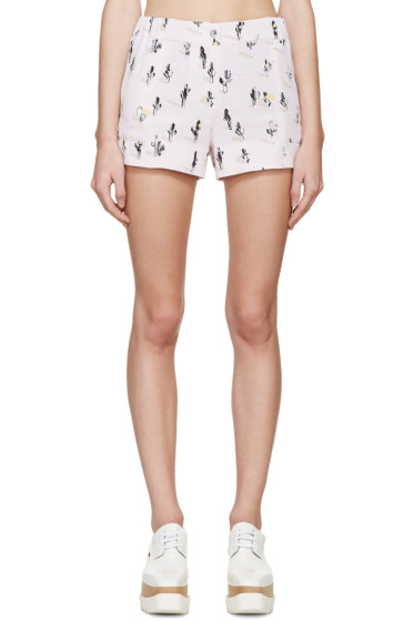 Kenzo - Pink Cartoon Cactus Shorts