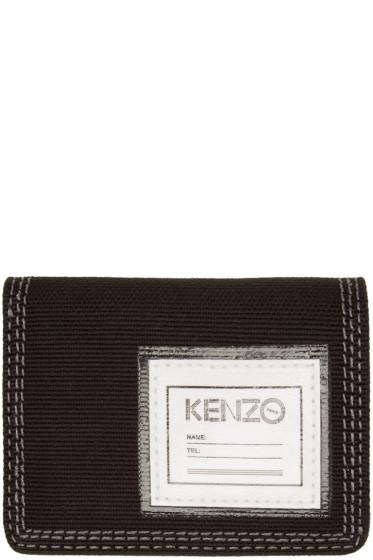 Kenzo - Black Canvas Bifold Wallet