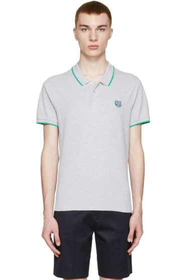Kenzo - Grey Tiger Appliqué Polo