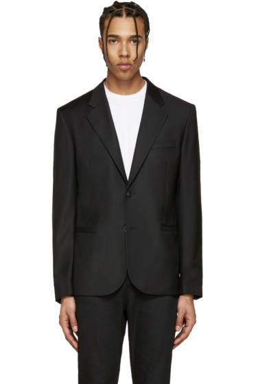 Versace - Black Wool Gabardine Blazer