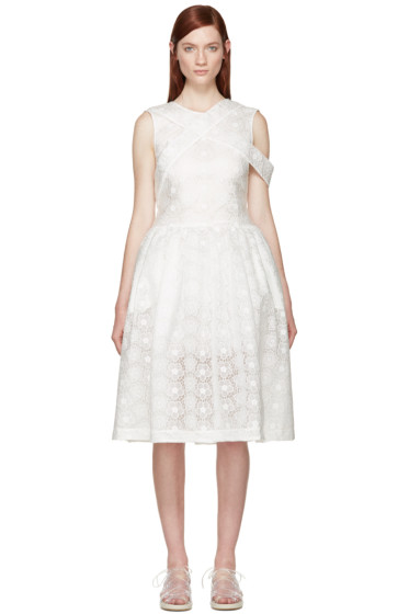 Simone Rocha - White Bonded Lace Dress