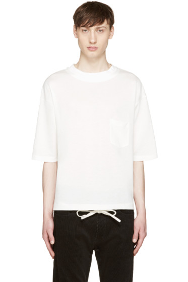 Sasquatchfabrix - White Knit T-Shirt