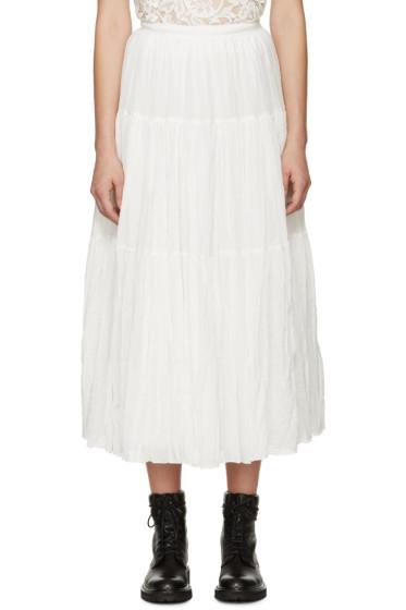 Saint Laurent - White Tiered Skirt