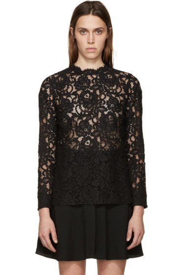 Saint Laurent - Black Lace Blouse