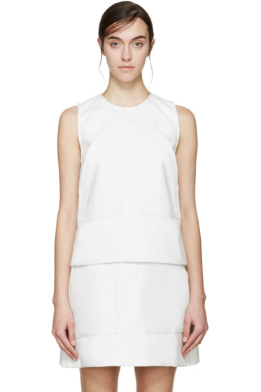 MSGM - White Panelled Tank Top