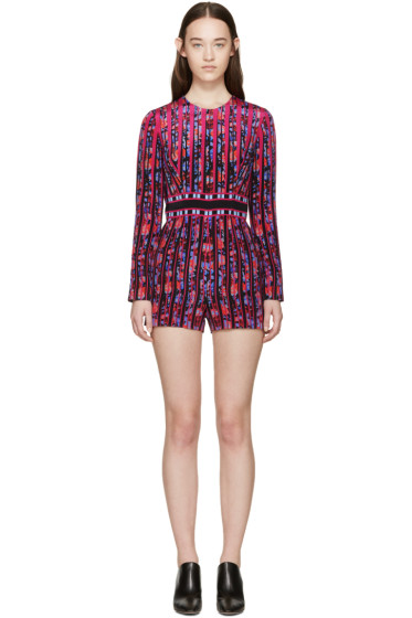 Mary Katrantzou - Multicolor Gardenia Poppies Jumpsuit