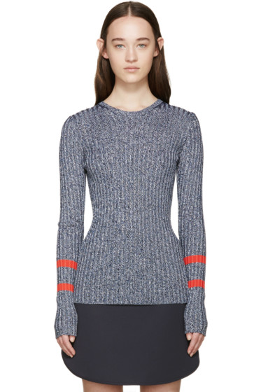 Mary Katrantzou - Navy Knit Fontaine Sweater