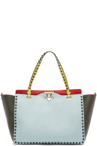 Valentino - Multicolor Leather Medium Rockstud Tote