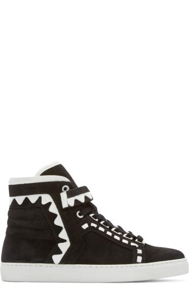 Sophia Webster - Black Suede Riko High-Top Sneakers