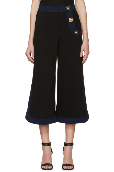 Peter Pilotto - Black Crepe Korl Trousers