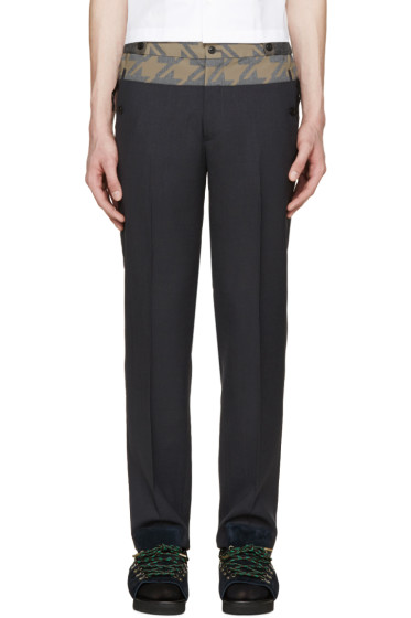 Kolor - Grey Contrast Trousers