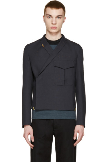 Kolor - Navy Wool Pocket Blazer