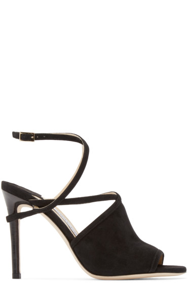 Jimmy Choo - Black Flora Heeled Sandals
