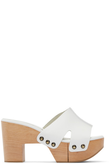 Robert Clergerie - SSENSE Exclusive White Cetri Clog Sandals