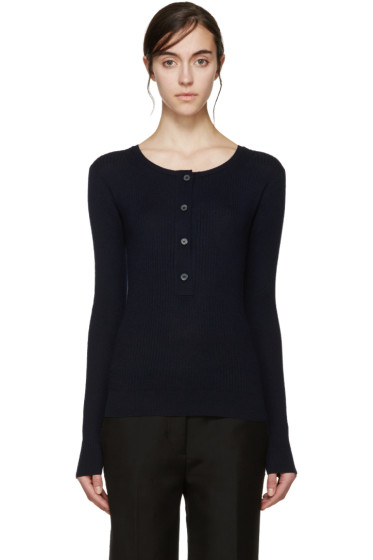 Maiyet - Navy Ribbed Cashmere Sweater